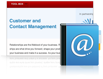 Contact management software included