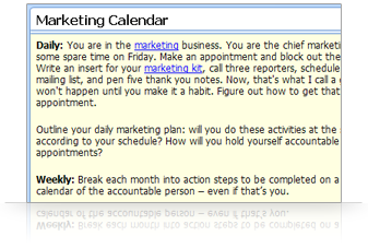 Plan and schedule marketing activities