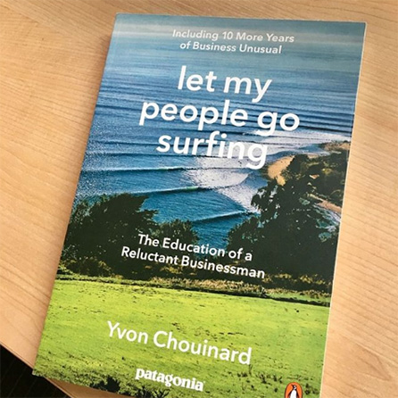 Book titled Let My People Go Surfing
